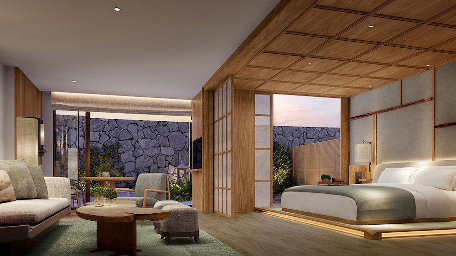 A modern suite inside the mitsui kyoto a luxury collection hotel and spa/