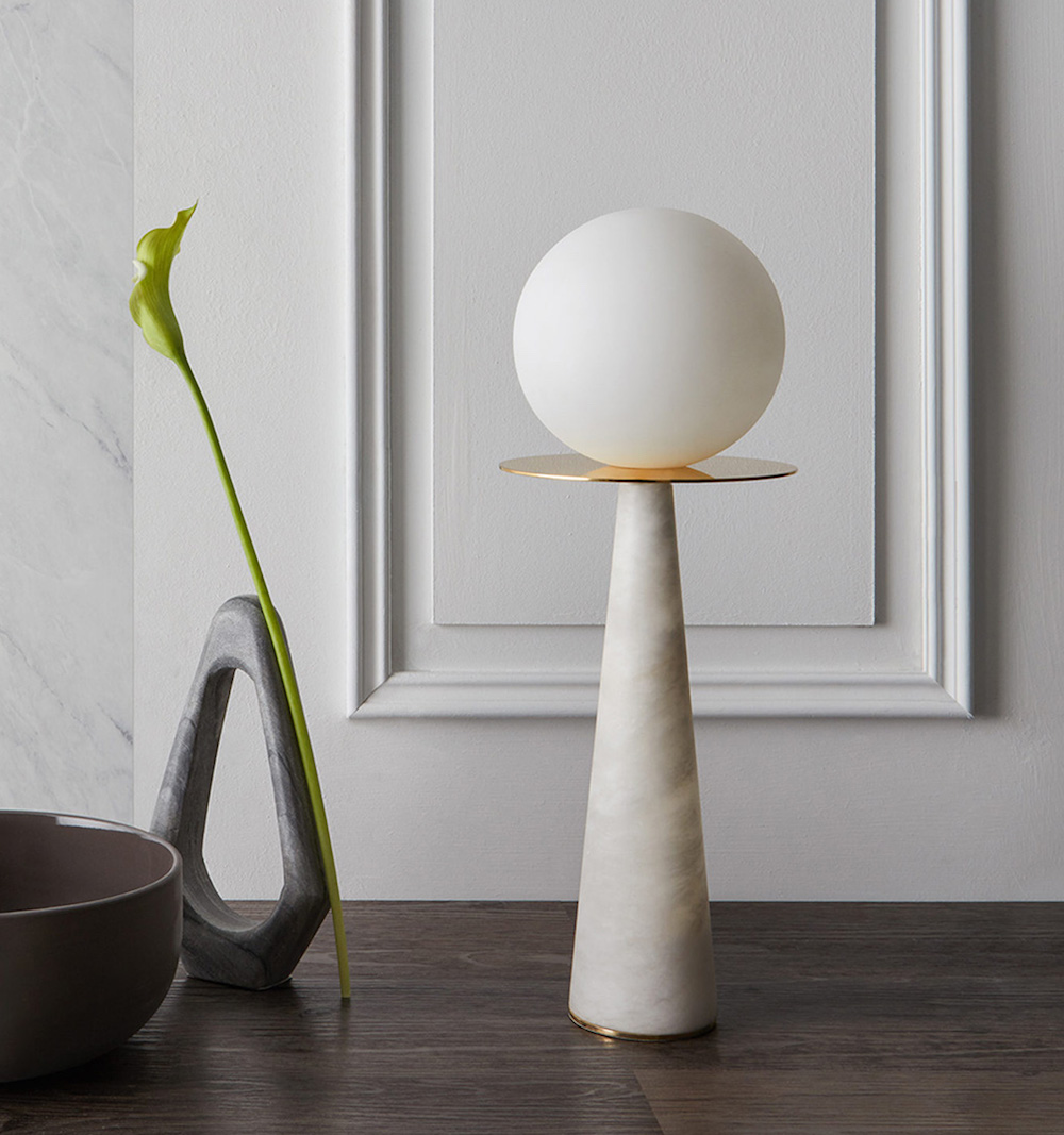 Halo Table Lamp in the Pearl Collection | Image credit Heathfield & Co