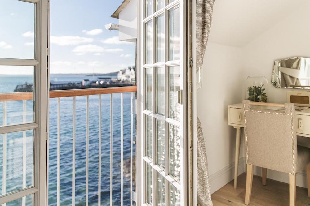 Image of door opening in St Mawes hotel to see the sea