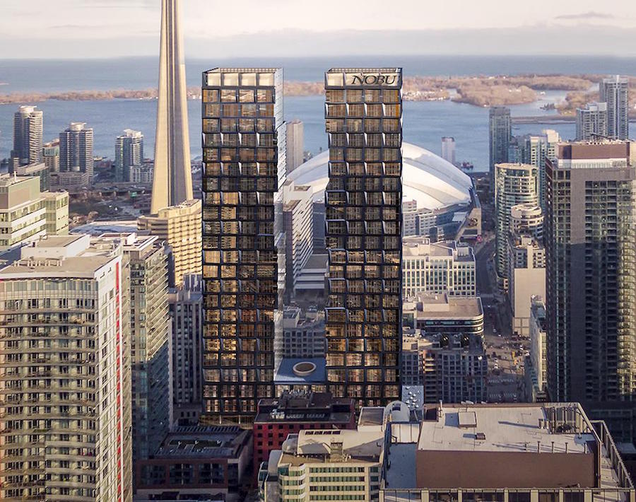 Two large towers emerge in Toronto
