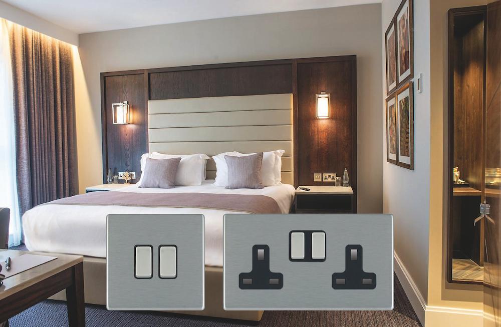 Bedroom inside Crow Wood Hotel