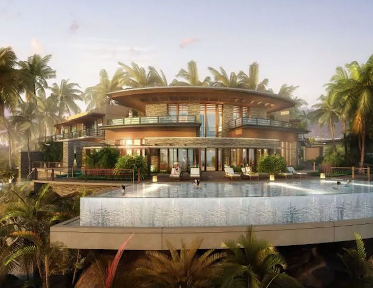 Render of Infinity Pool at Mango House in The Seychelles
