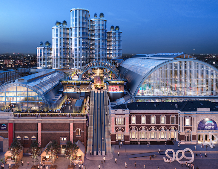 Render of what London Olympia will look like in 2023