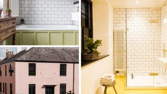 A collage of interior design shots inside The Bull Inn in Totnes
