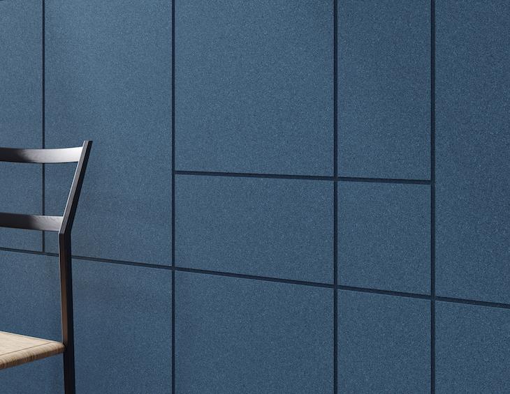 Blue modular wall