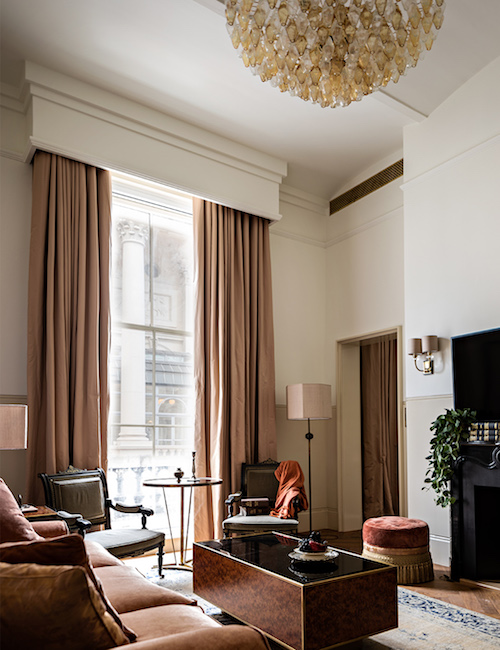 A residential style living room inside NoMad London