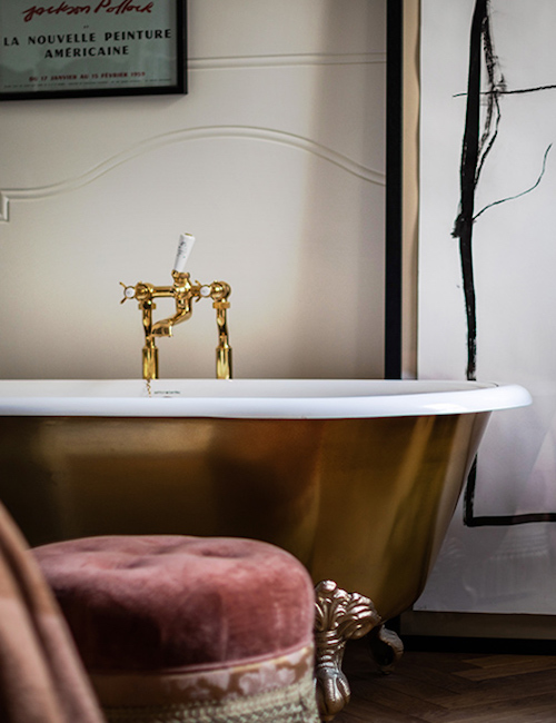 A golden bath inside NoMad London
