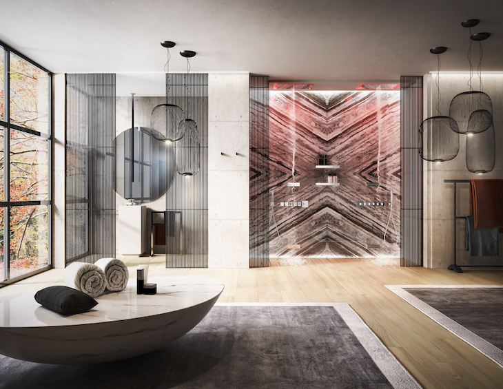 A cutting-edge bathroom design from Gessi