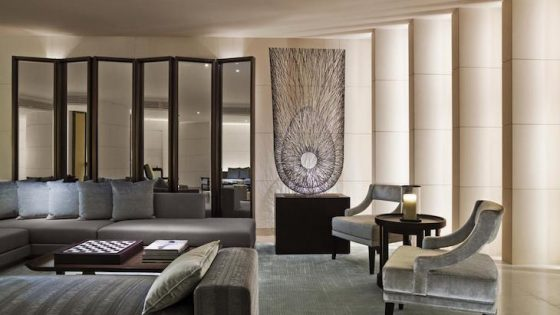 A lounge area inside The Upper House in Hong Kong
