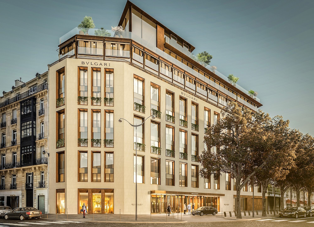Render of Bvlgari Hotel Paris