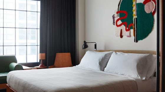 Image of guestroom inside Ace Hotel Brooklyn