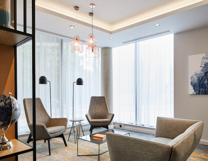 A modern and contemporary design in suite of hotel