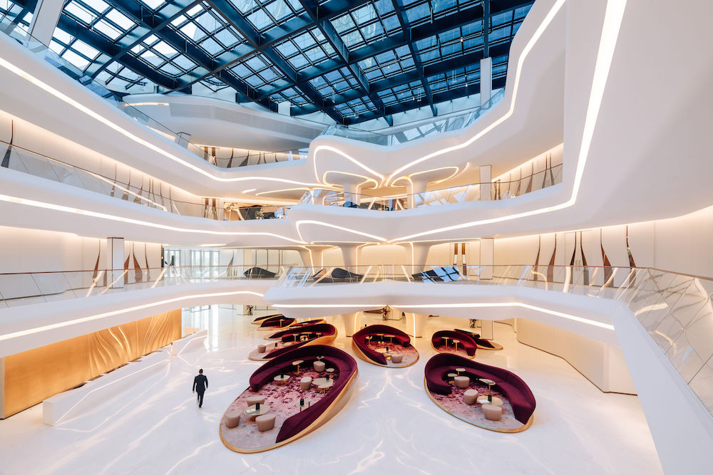 An image to show the expansive atrium inside the ME Dubai
