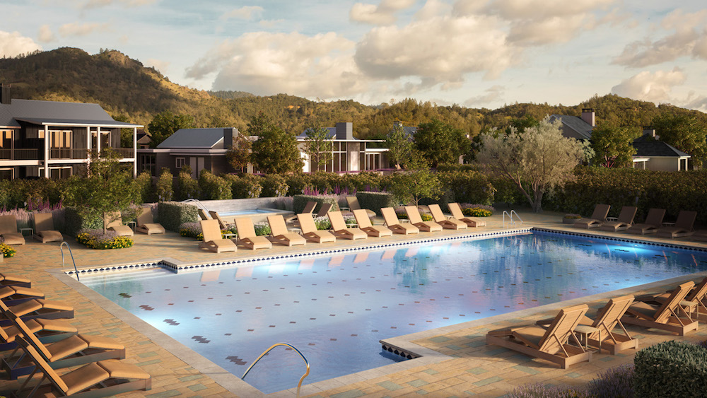 Image render of outdoor pool of Four Seasons hotel opening in March