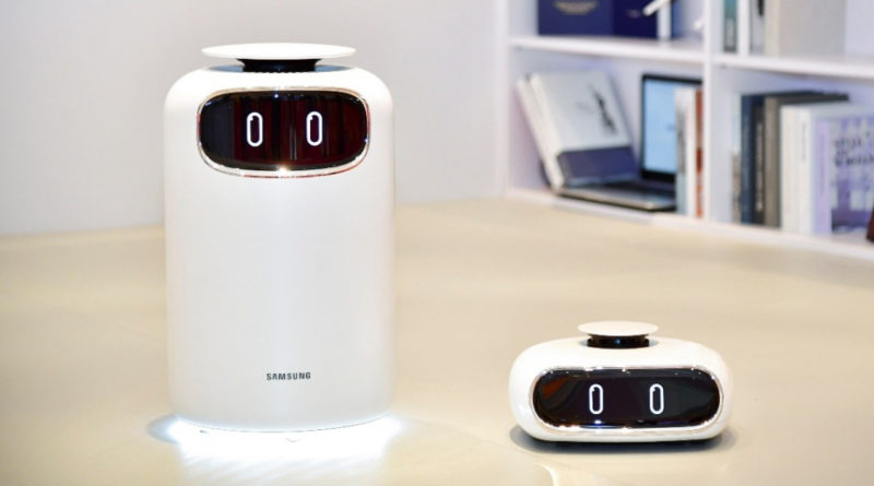 Image caption: Air-purifying robots by Samsung