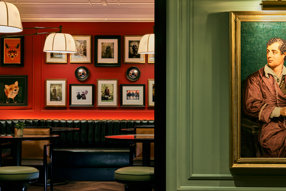 Images of foxes in The Den at The Mayfair Townhouse
