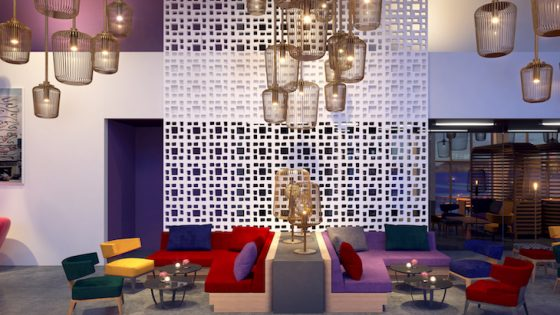 Wink Hotels has arrived in Vietnam, here you can see quirky interiors in a render of the hotel's lobby