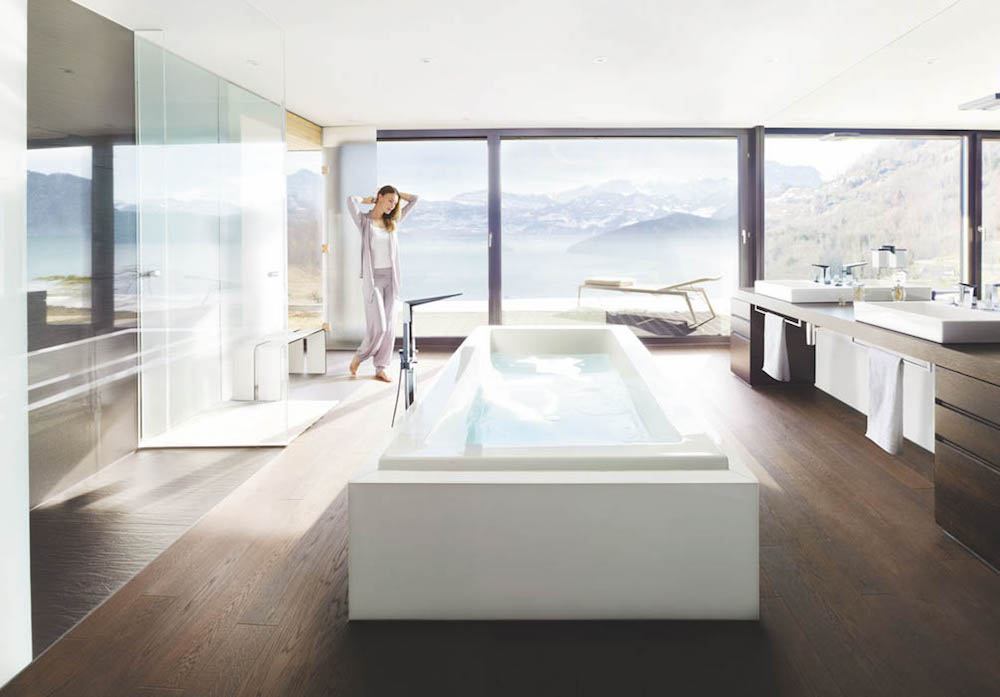 Luxe bathroom with huge bath