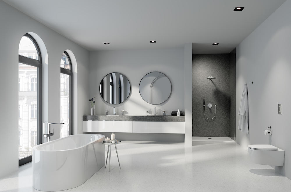 Image of modern and clean looking bathroom