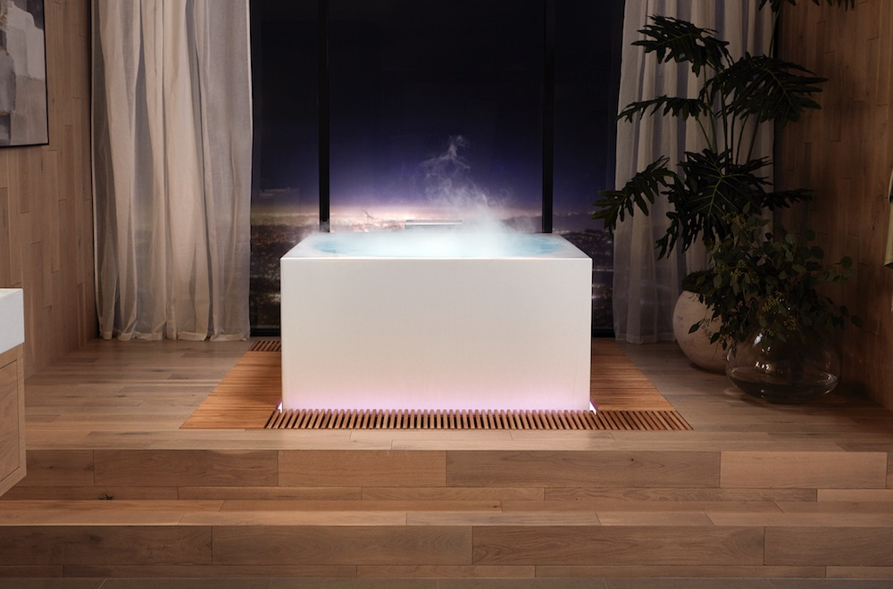 Image caption: Bathroom brand Kohler impressed the audience with its tech-forward Stillness Bath