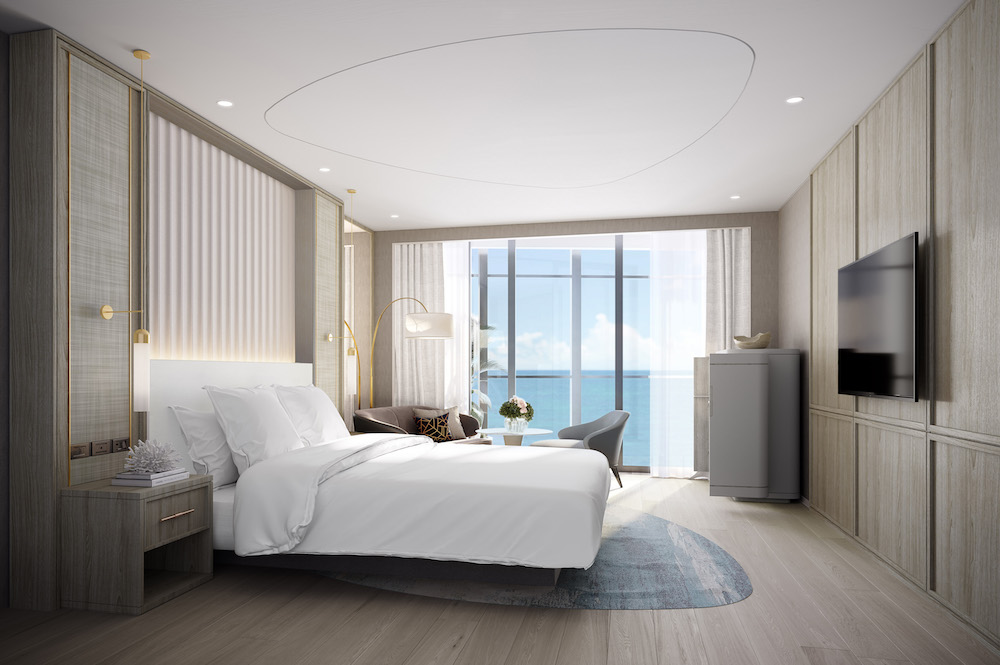 Render of luxury suite inside The Langham Gold Coast