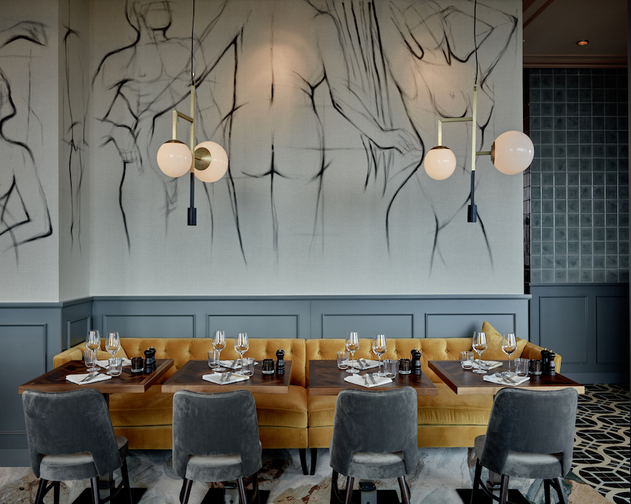 Image caption: The Paris Club Restaurant, 25Hours Hotel Düsseldorf, Image Credit: Erik Nissen Johansen/Stylt Trampoli | Image credit: Elegant Clutter