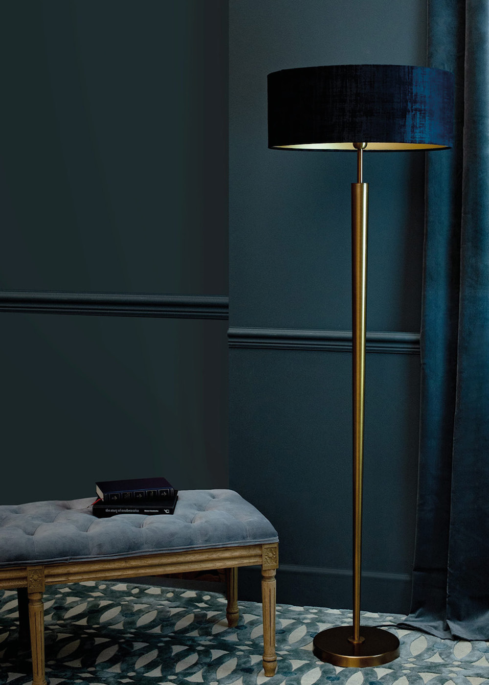 Image caption: Heathfield & Co's Torchere Floor Lamp