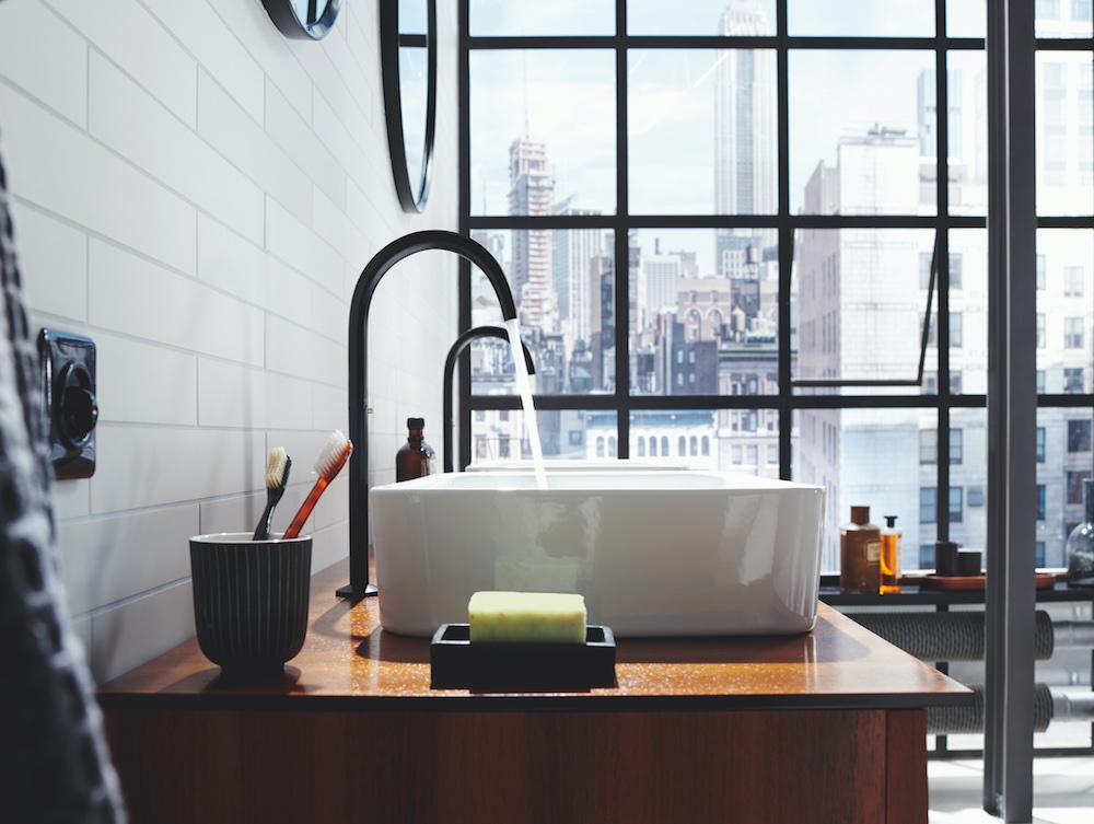 Image of black tap
