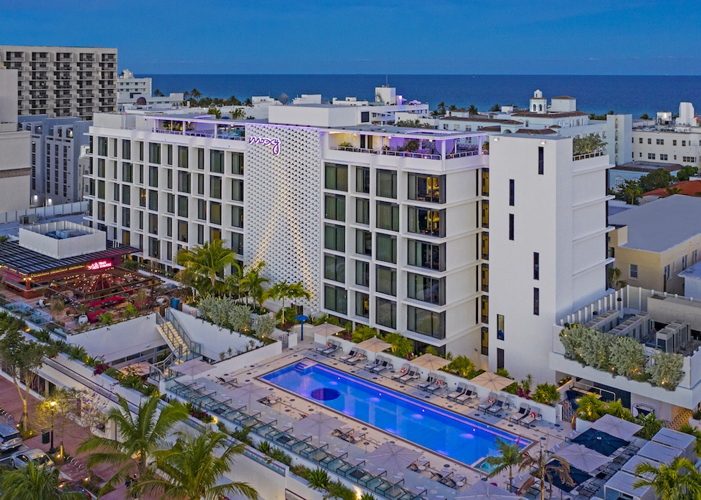 Exterior image of Moxy Miami South Beach