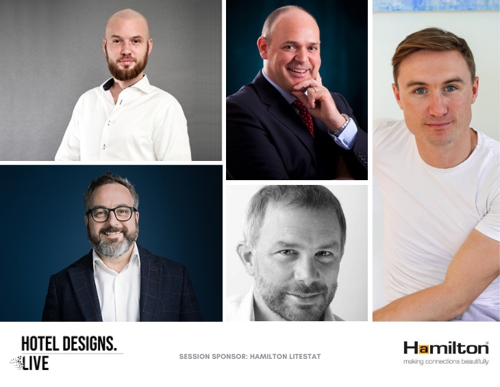 Image of panelists for first session of Hotel Designs LIVE