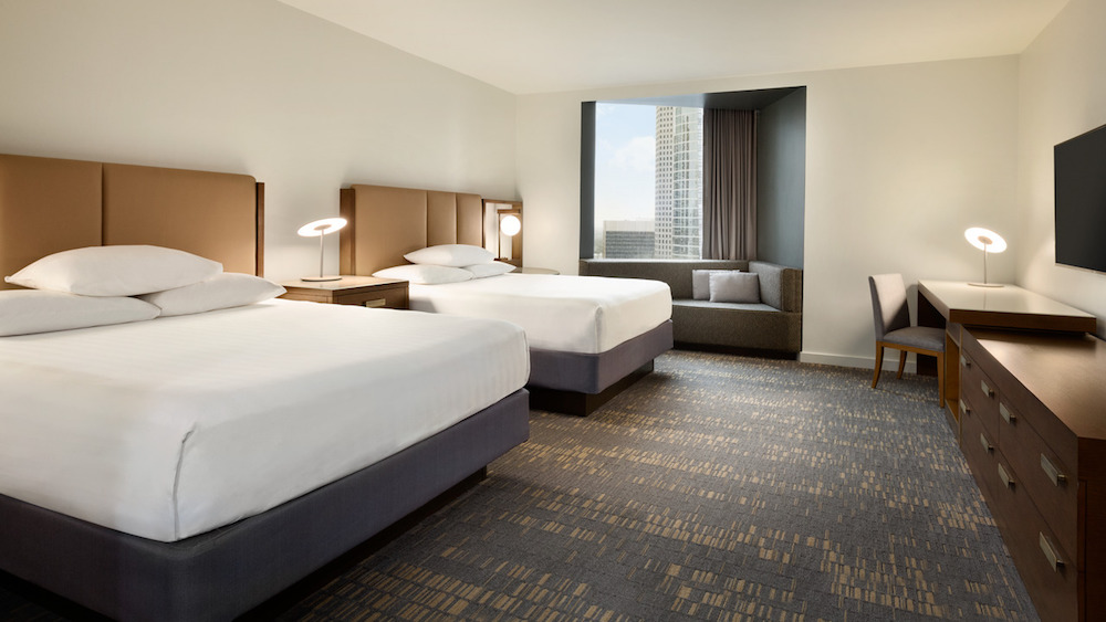 Image of guestroom inside Hyatt Regency Houston