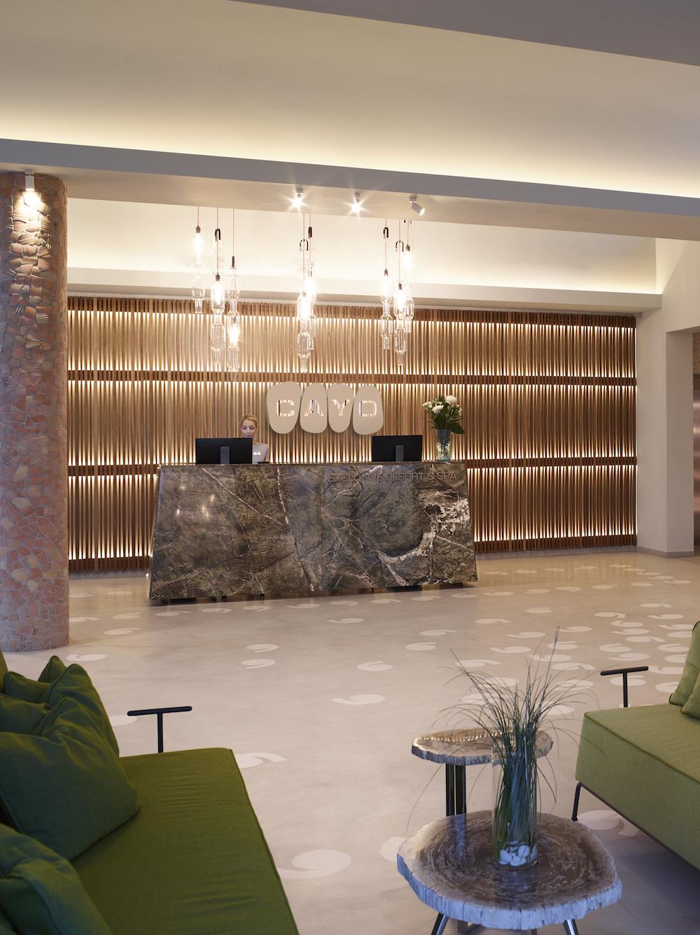 The lobby at Cayo Crete