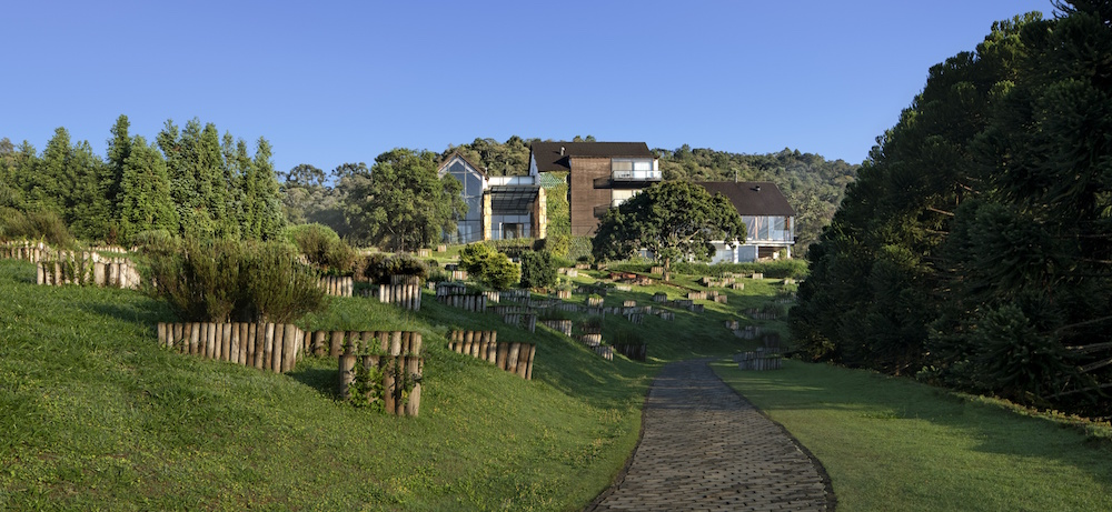 Image of the main building at the Six Senses Botanique hotel in Brazil