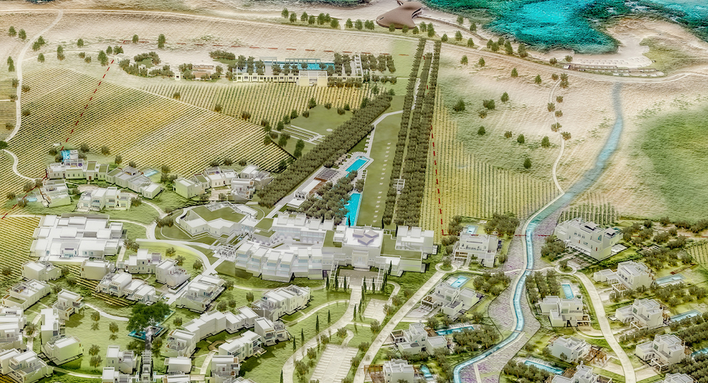 Render of site of the new Four Seasons resort in Southern Italy