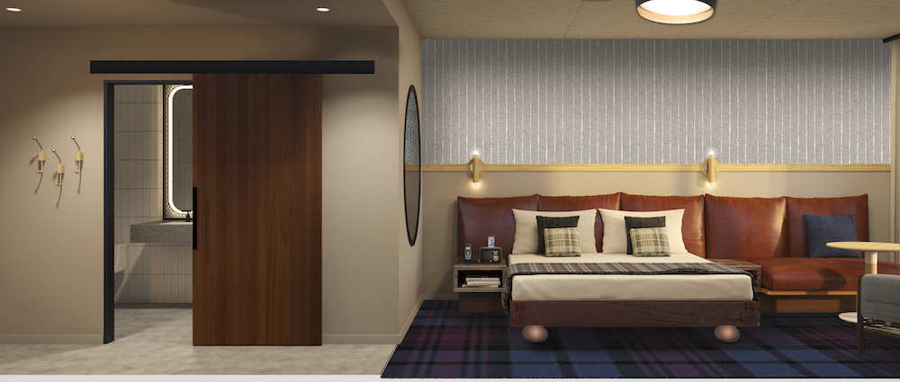 March hotel openings: The Rally Hotel guestroom render