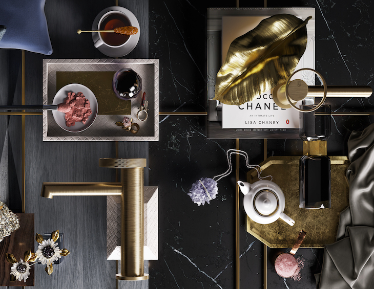 A moodboard of both masculine taps and feminine taps