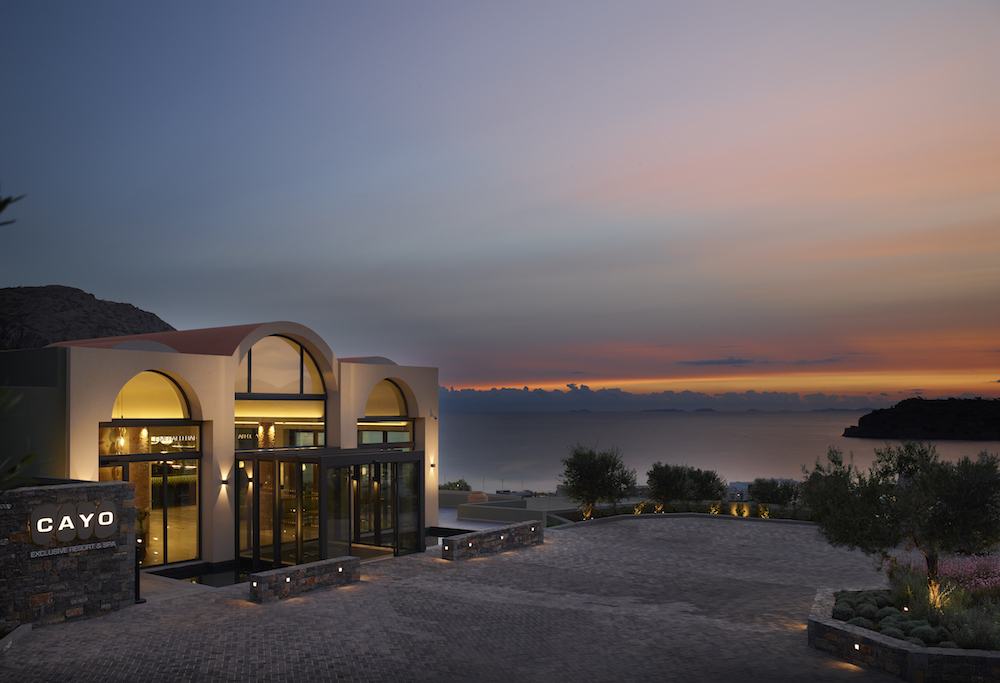 Image of hotel surrounding natural landscape of Crete