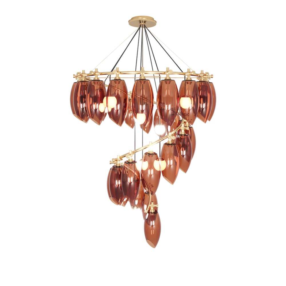 cut out of cocoon chandelier
