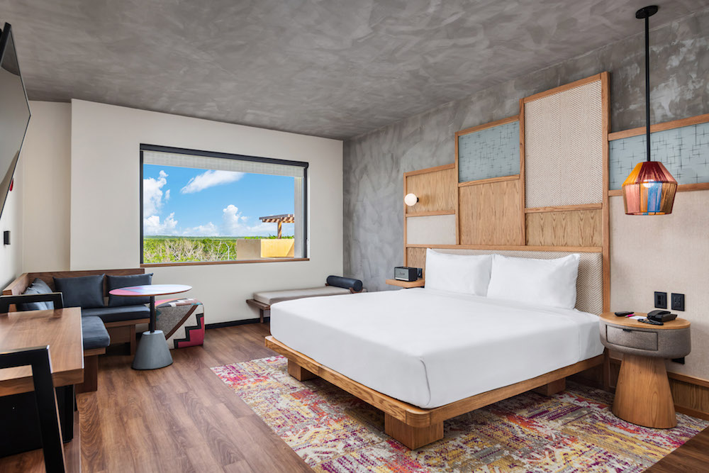 Render of guestroom of Aloft Tulum