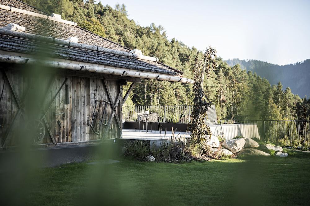 Image of landscape outside of sustainable hotel