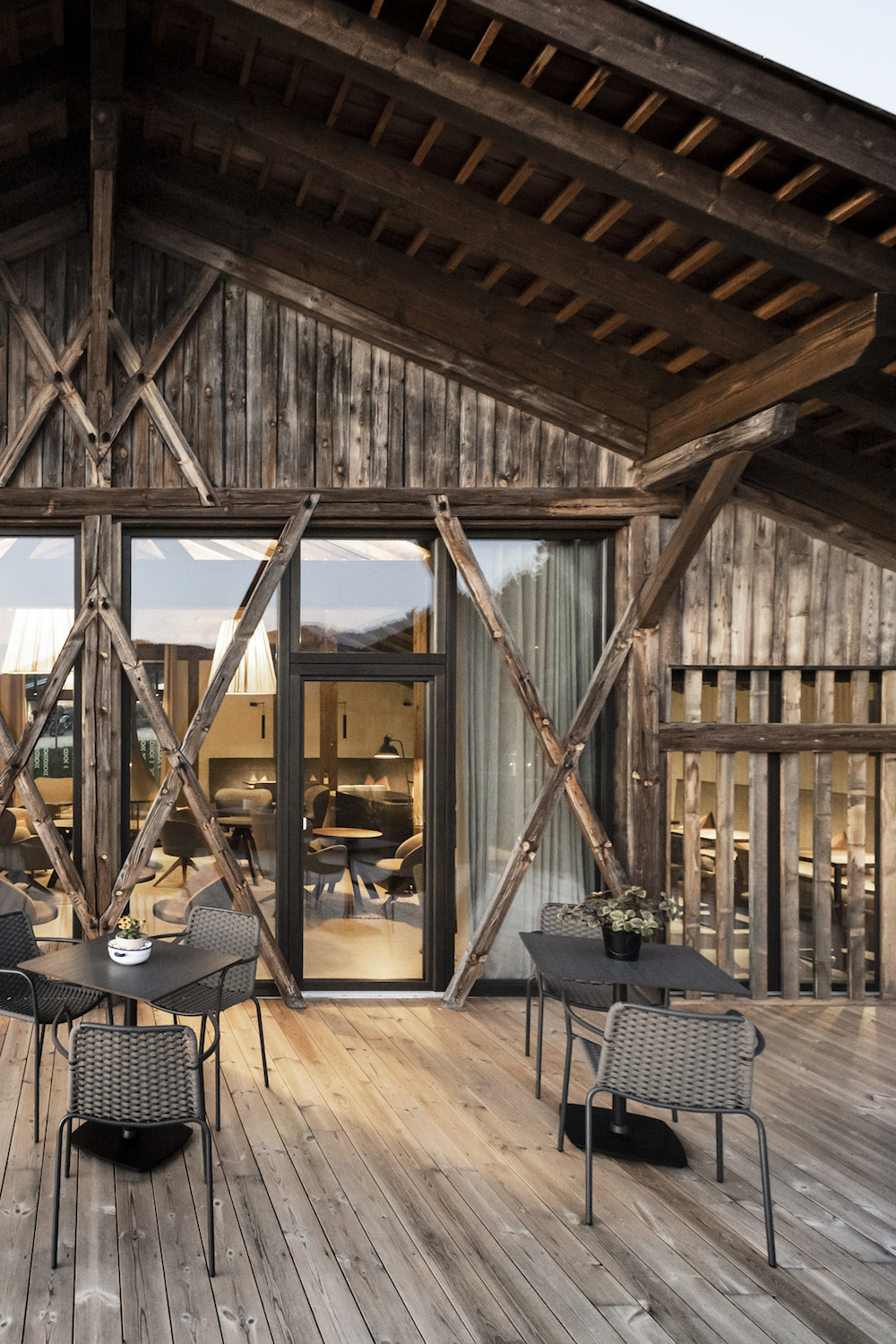 Image of terrace in converted barn