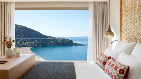 Image of luxury design hotel guestroom at MarBella Elix in Greece