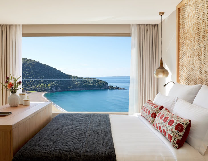 Image of luxury design hotel guestroom at MarBella Elix in Greece