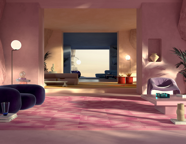 Pink room with TSAR carpets