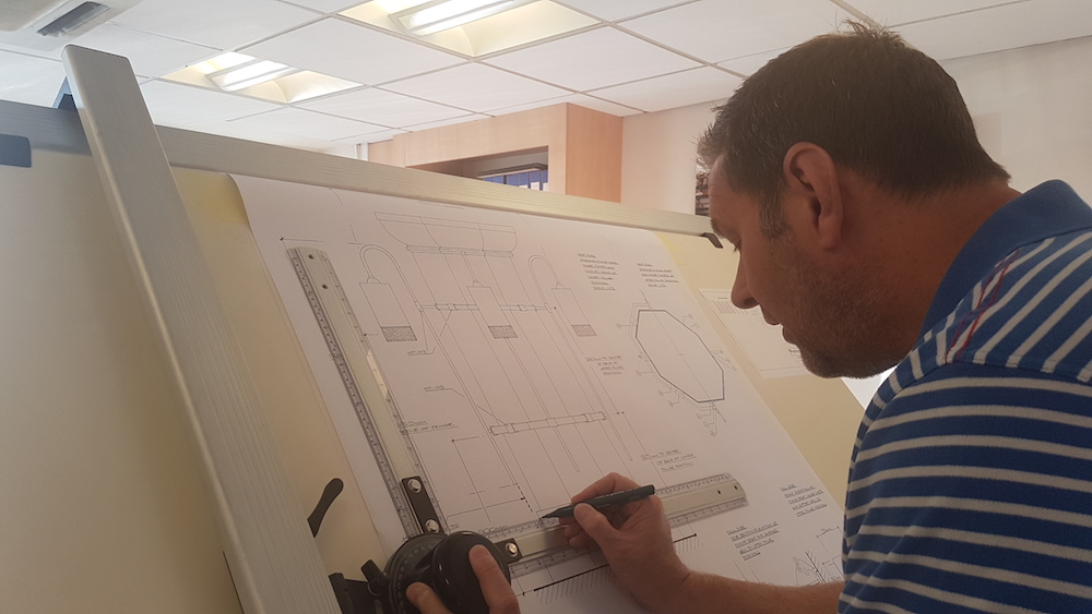 Image caption: Mark Harper working on drawing for Adare Manor Tack Room lighting design