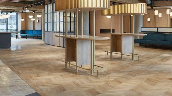 Wooden floor inside empty Cambridge Novotel