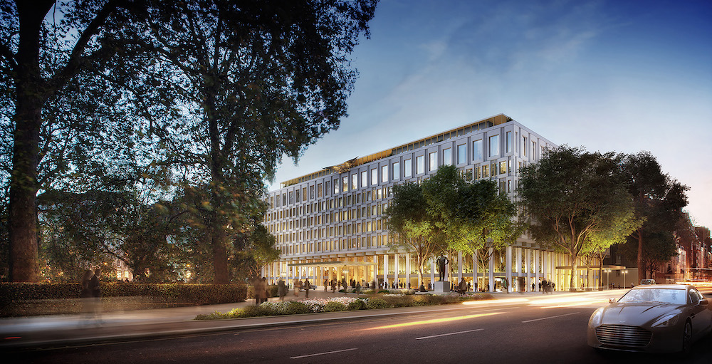 Render of Rosewood London in former US Embassy