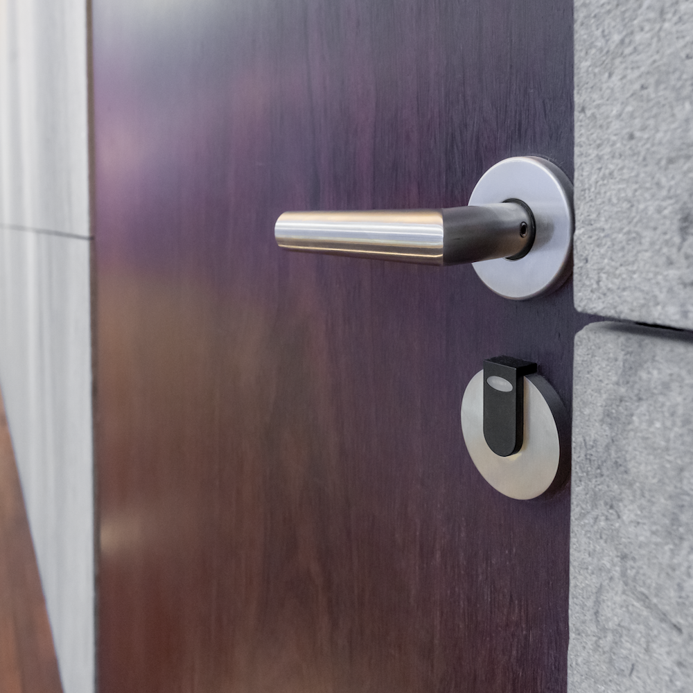 Image of subtle technology in door entry system