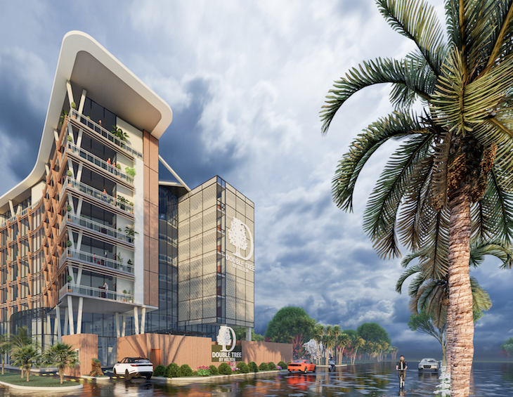 Render of the DoubleTree by Hilton in Pakistan