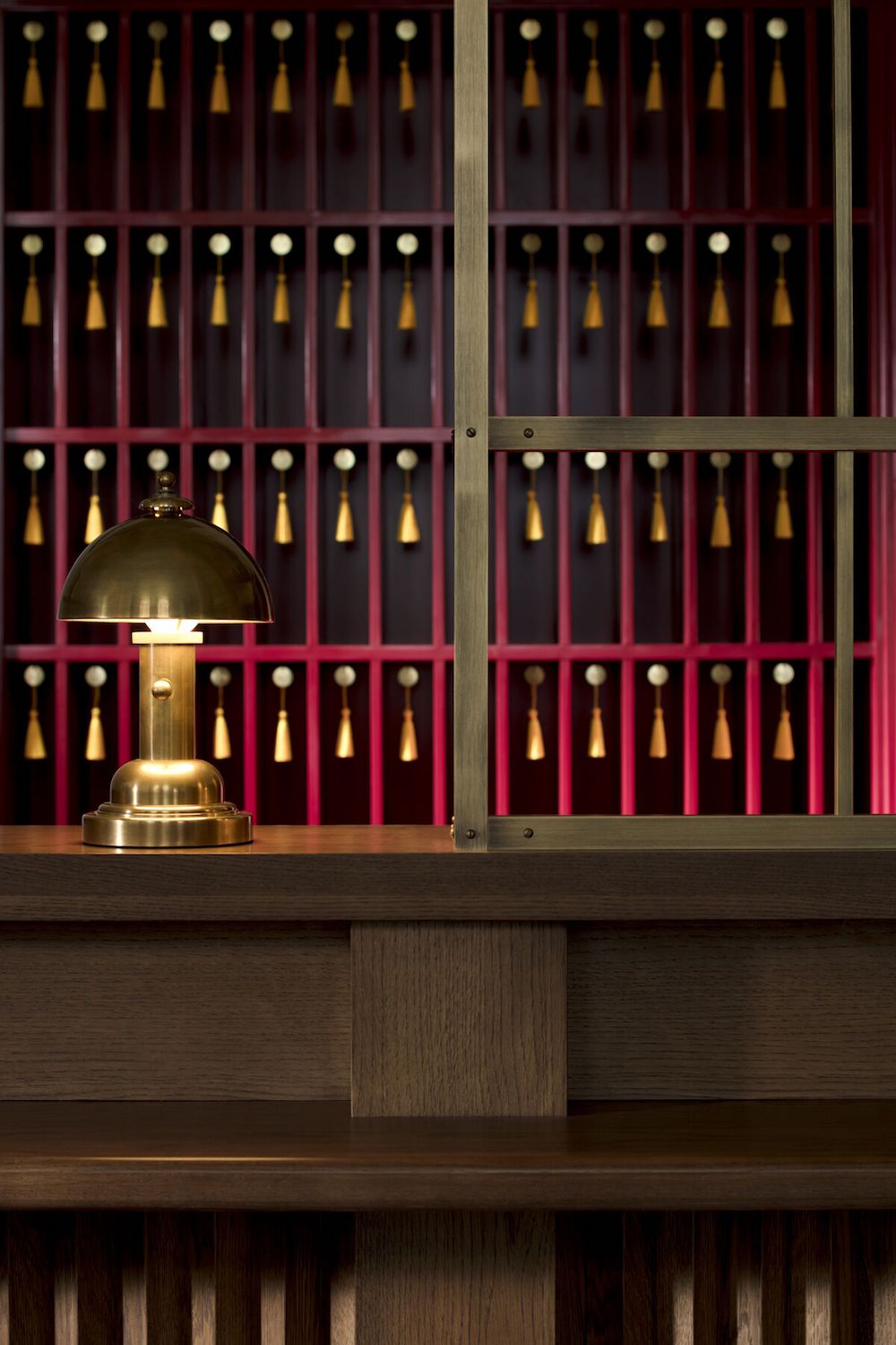 Image caption: A close-up of the timeless check-in desk. | Image credit: Riggs Washington D.C.